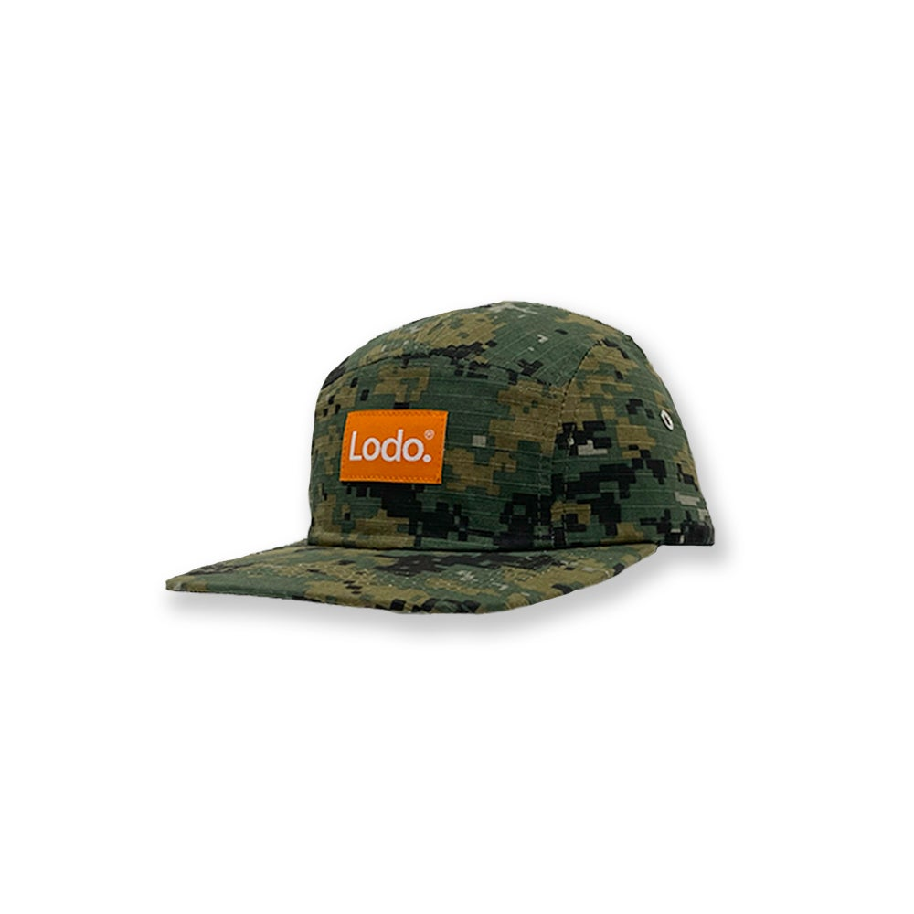 Image of Camo LODØ 5 panel hat