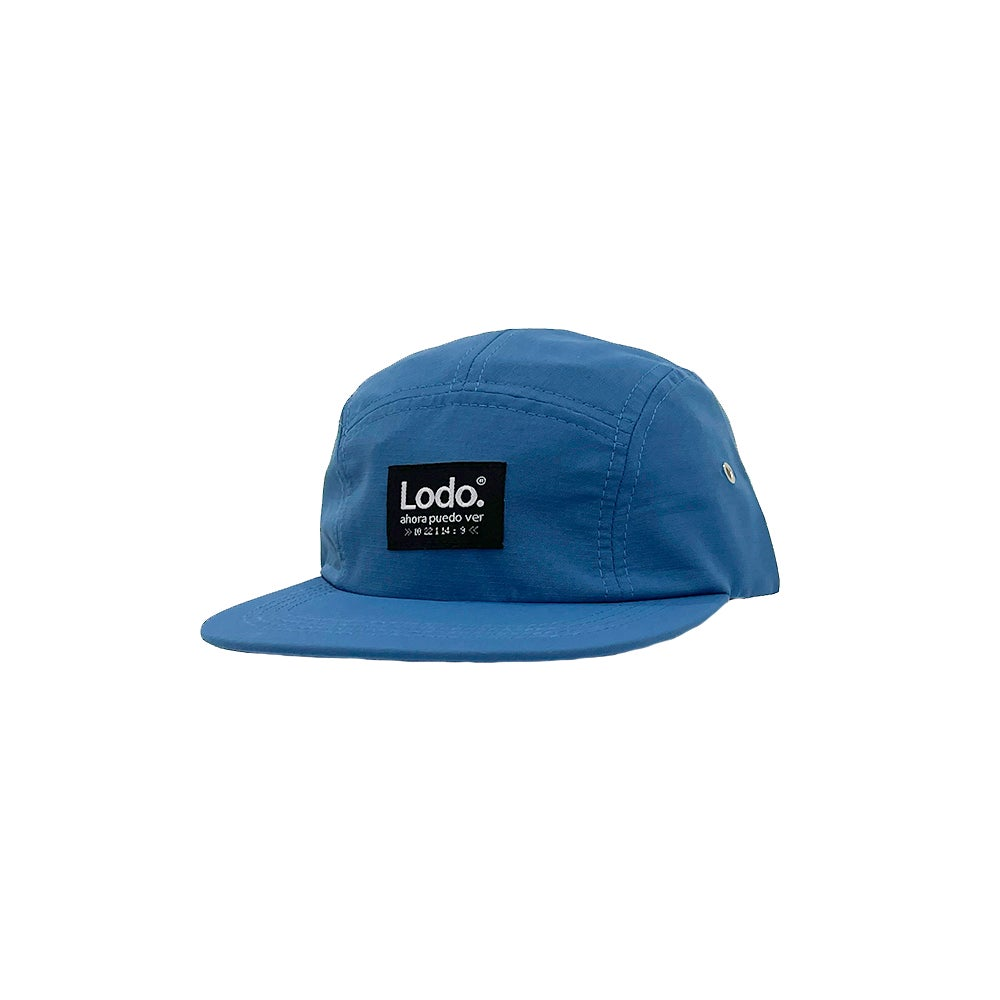 Image of Blue LODØ 5 panel hat