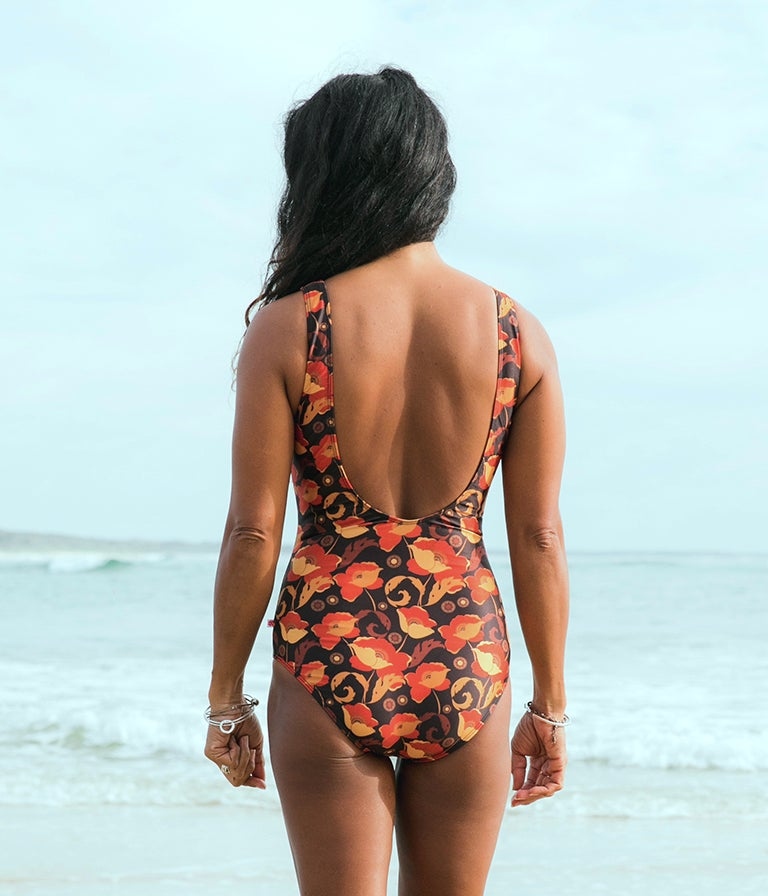 Image of Beach Onepiece - Red Poppy