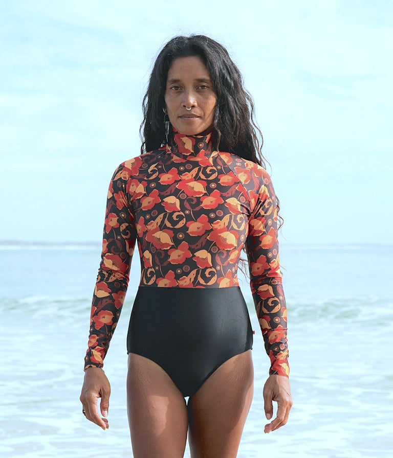 Image of Sol Surfsuit - Red Poppy