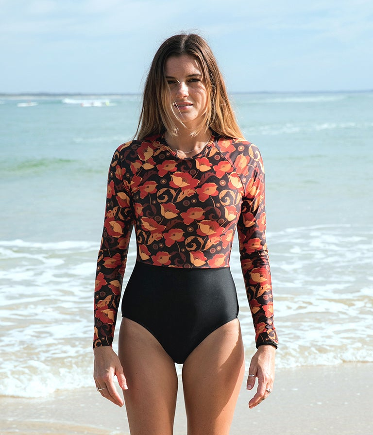 Image of Pacific Surfsuit - Red Poppy