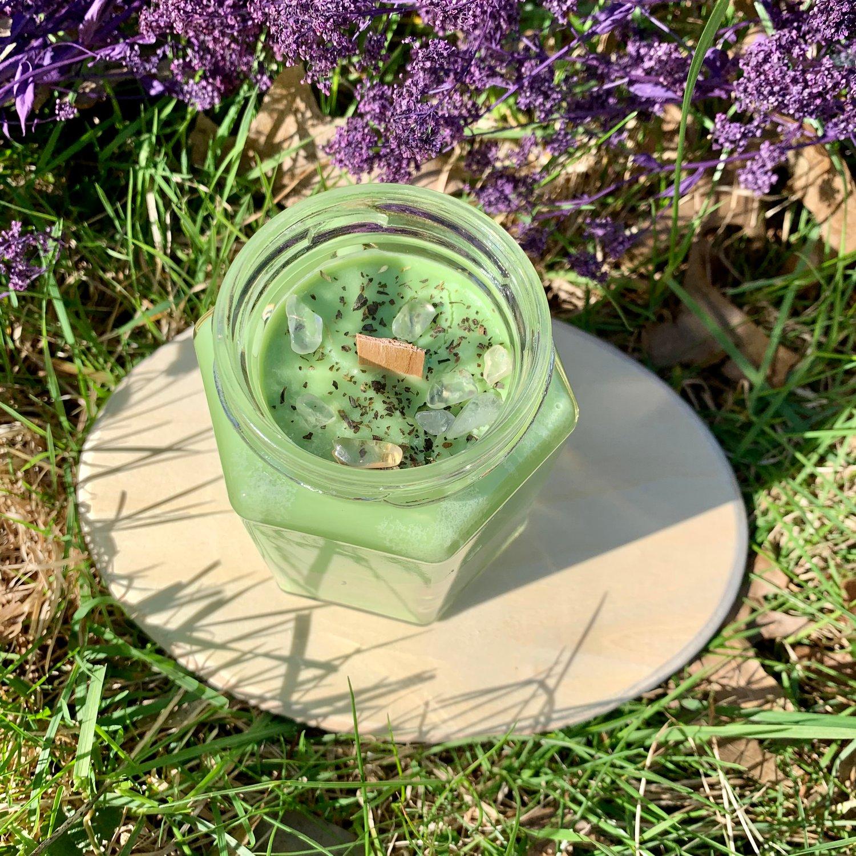 Patchouli Money 9 oz Hexagon Candle