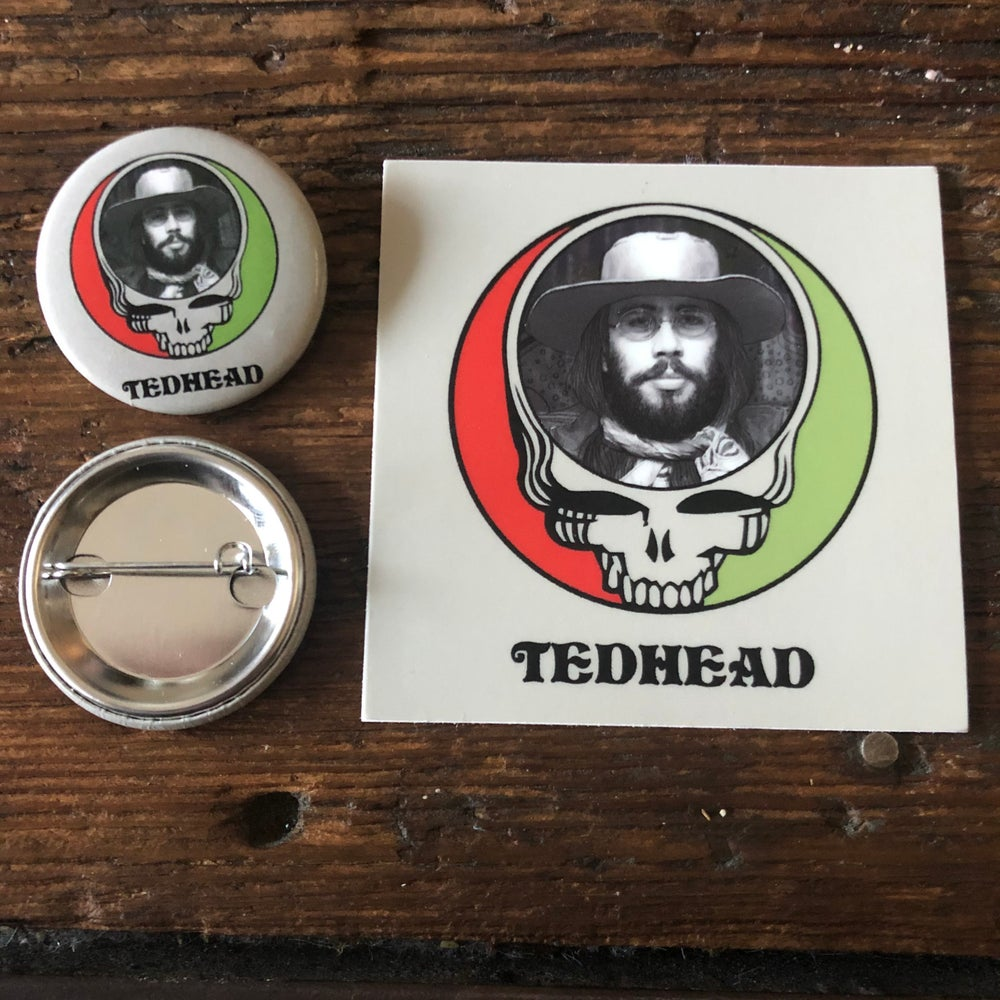 Tedhead Sticker & Pin Set
