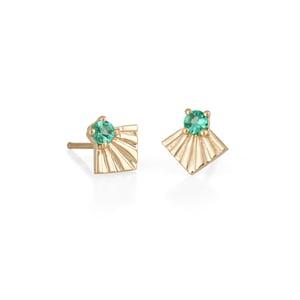 Image of Emerald Moro Earrings