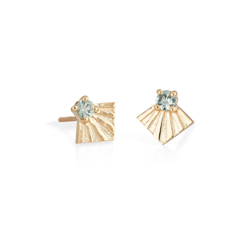 Image of Ocean Sapphire Morro Earrings