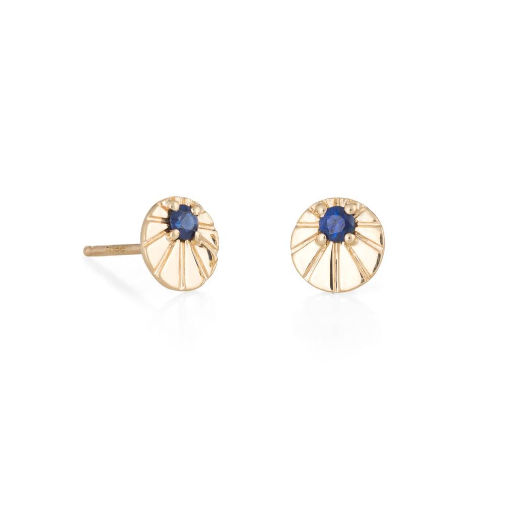 Image of Sapphire Ursa Earrings