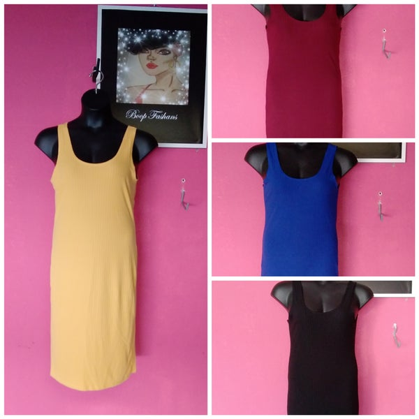 Image of PLUS SIZE RIBBED BODYCON DRESS