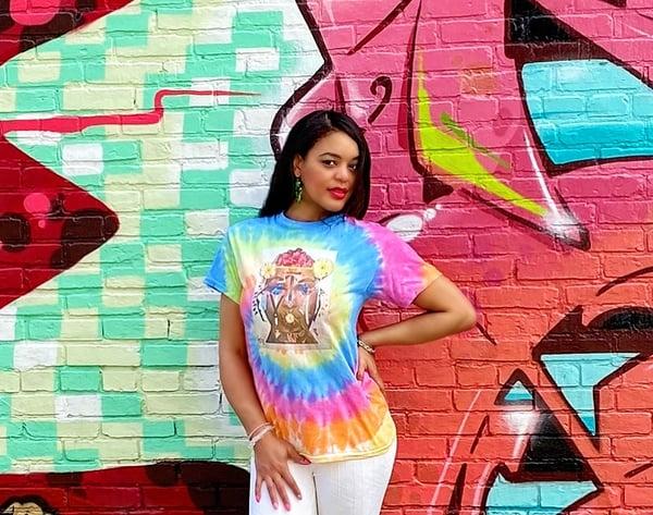 Image of Rainbow Unisex Tie Dye Nachami Tee