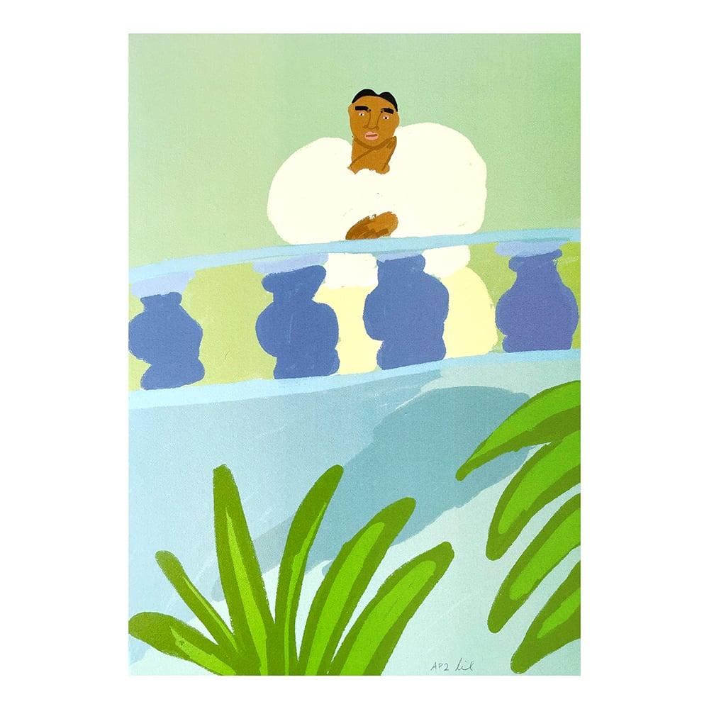 "Image of ""Balcony"" Screen Print by Lilian Martinez"