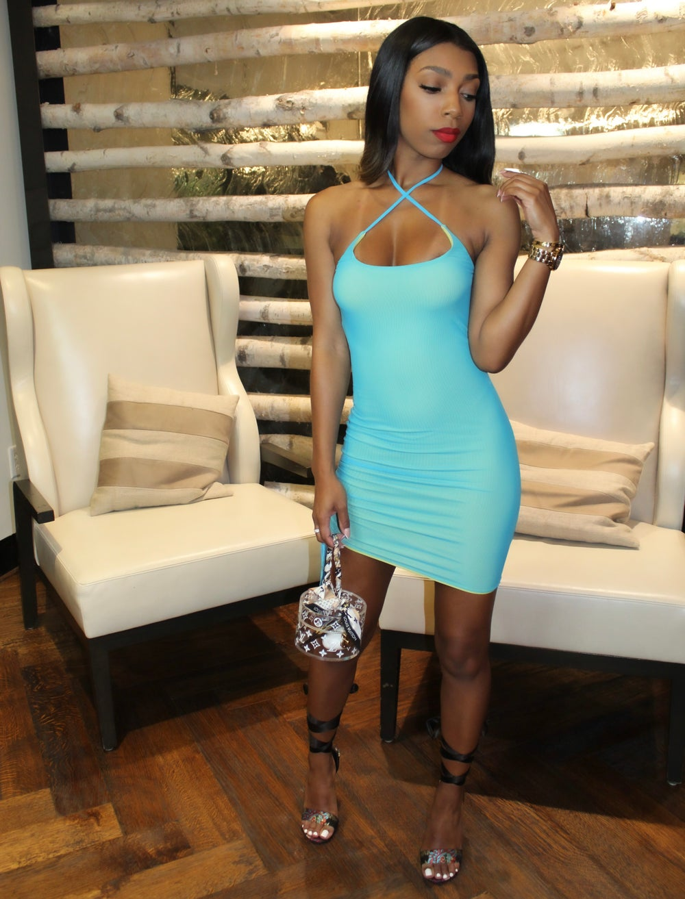 Image of Turquoise Halter | Dress