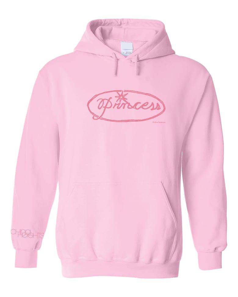 Image of Ondine Seabrook 'Princess' light pink hooded sweatshirt
