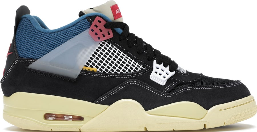 "Image of Nike Retro Air Jordan 4 Union LA ""Off Noir"" Sz 7"