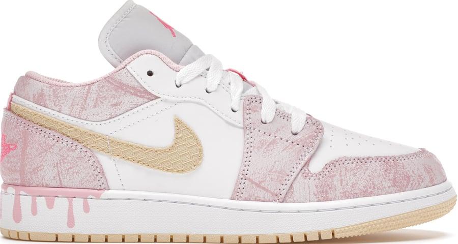 """Image of Nike Jordan 1 Low """"Paint Drip"""""""