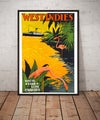 West Indies | 1931 | Wall Art Print | Home Decor | Vintage Travel Poster