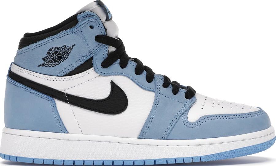 "Image of Nike Retro Air Jordan 1 ""University Blue"" Sz 6.5"