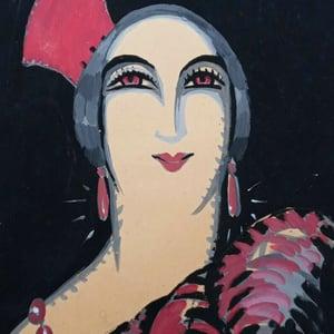 Image of 1941, French Gouache 'Le Boléro à l' Opėra Garnier', Léon Leyritz (1888-1976)