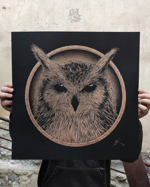 Image of BUBOS<br/>Metallic Bronze Variant<br/> <small>Limited Edition Screen Print</small>