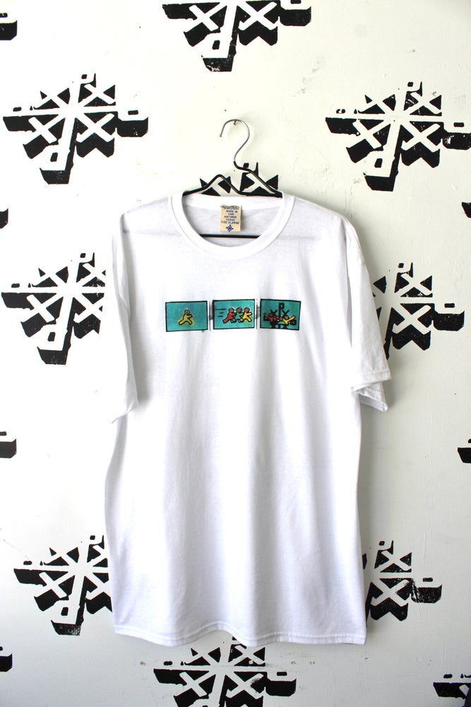 Image of exactly where it's at tee in white