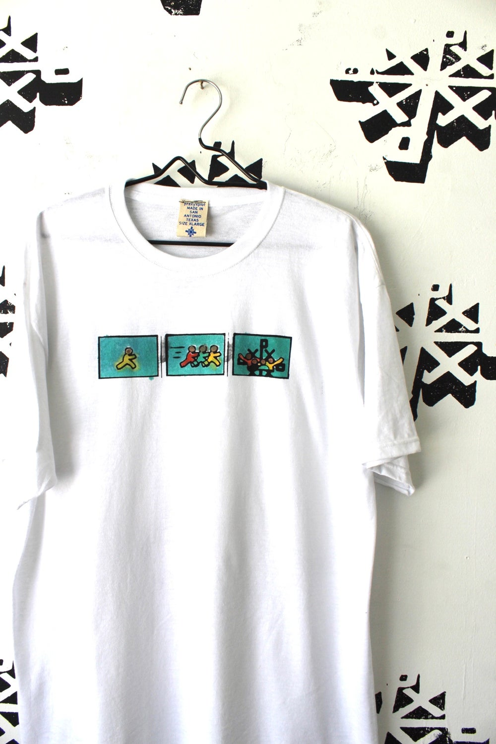 exactly where it's at tee in white