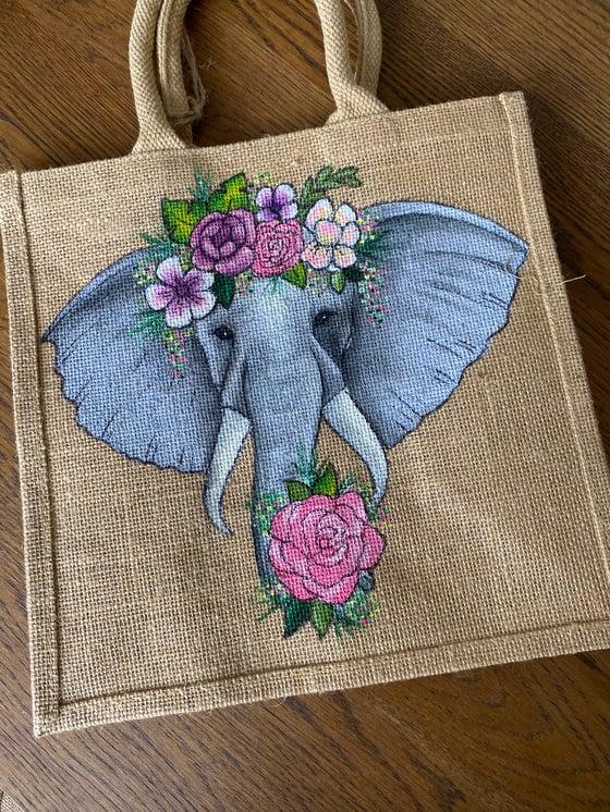 Image of Floral Elephant Bag