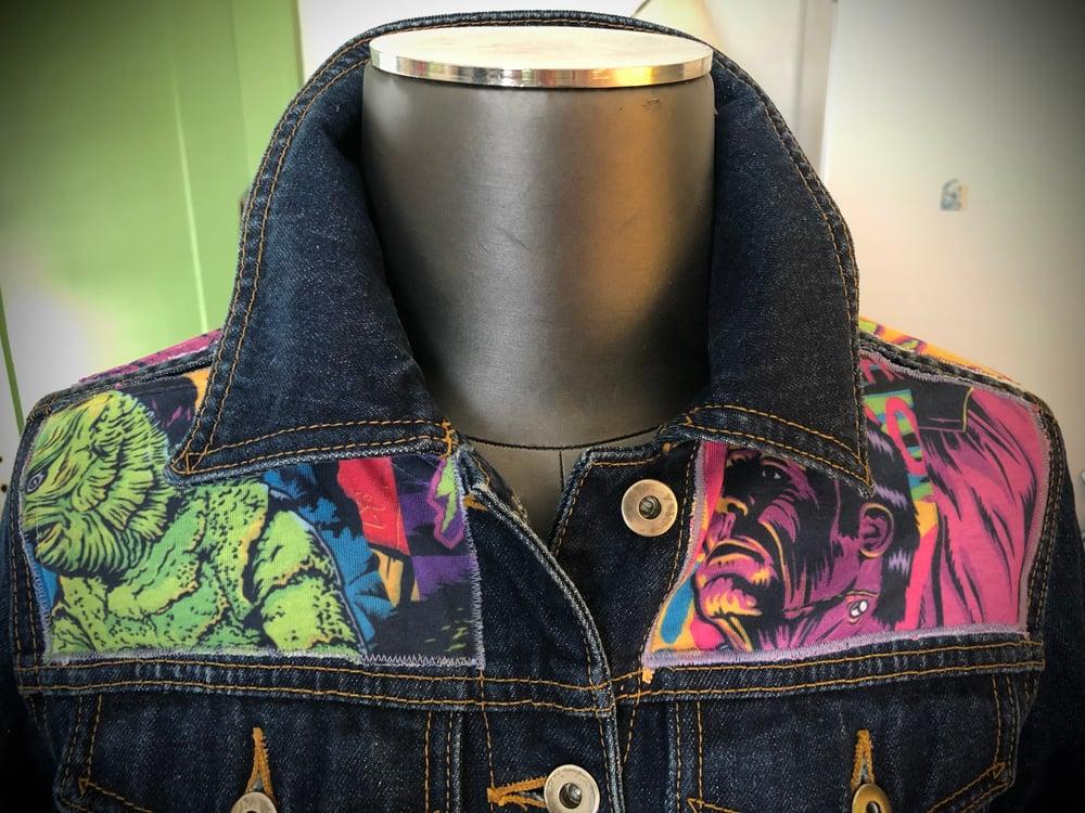 """""""Monster Skate"""" UPcycled denim jacket"""