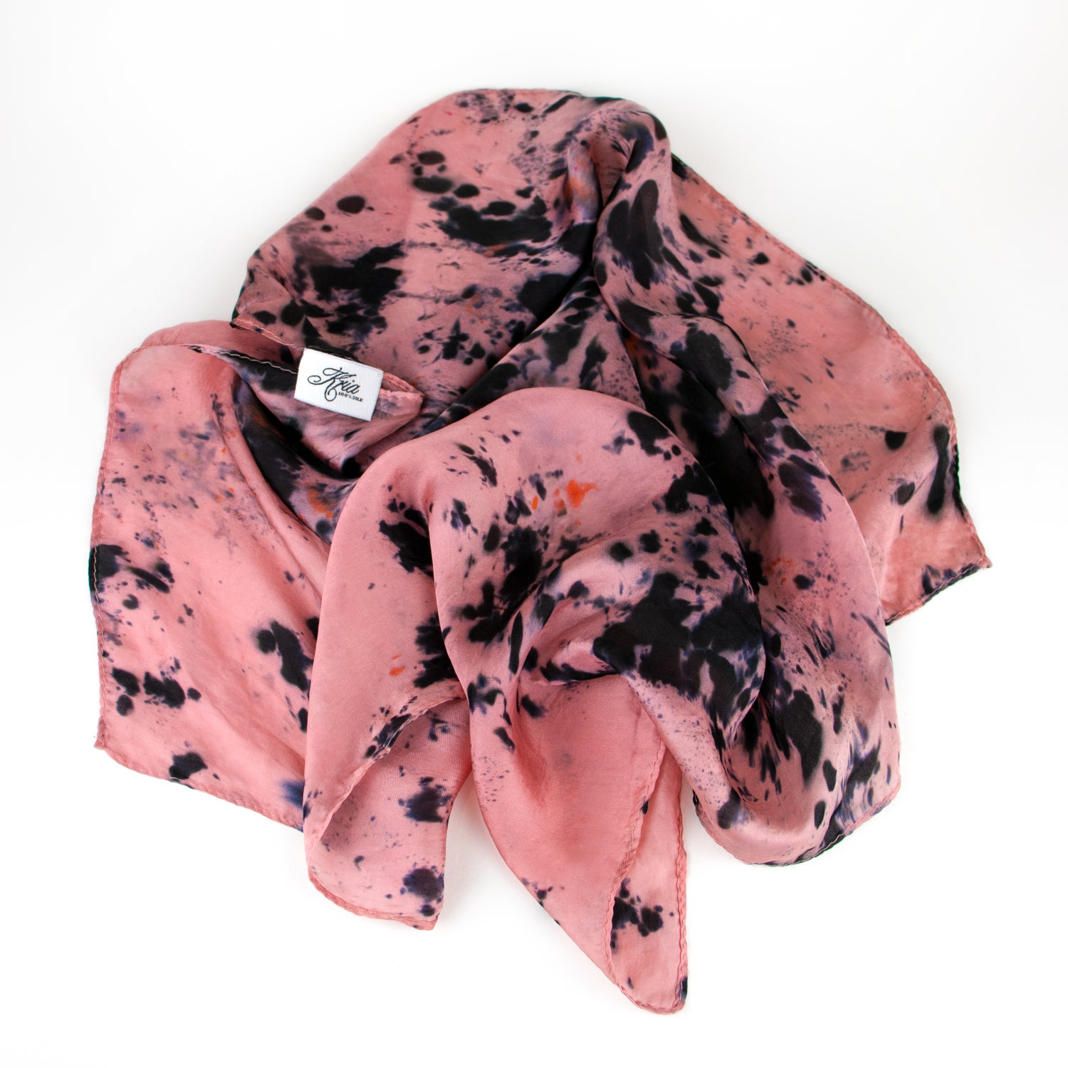 Image of Water Lily Hand-Dyed Silk Bandana by Kria