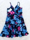 Tropical Flower Dress (blue/pink)