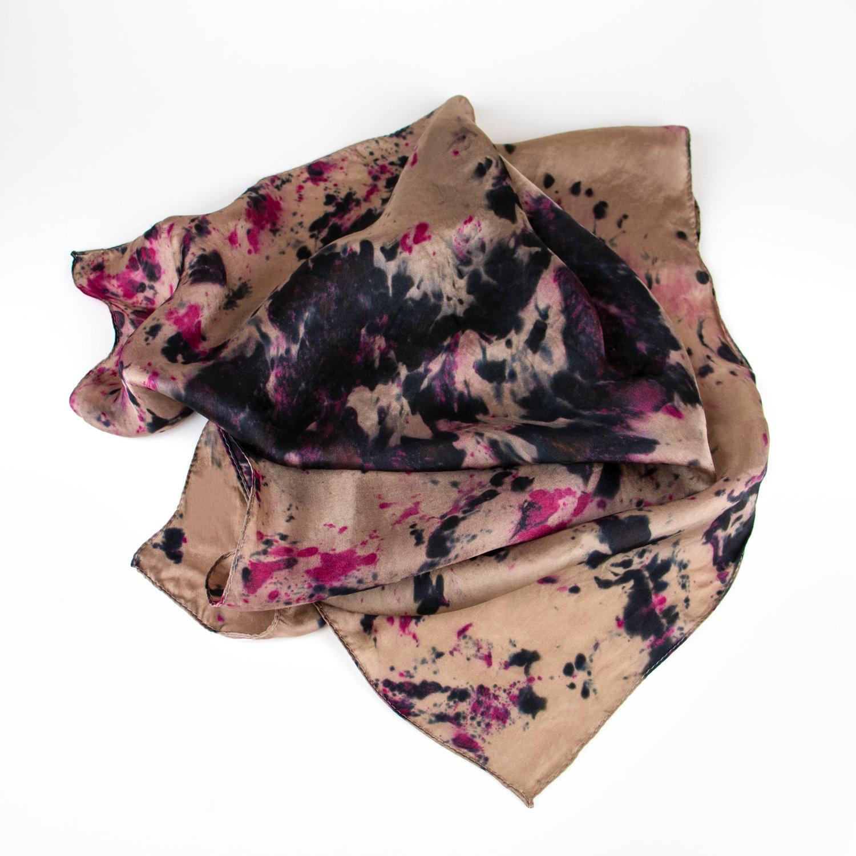 Image of Utsuri Koi Hand-Dyed Silk Bandana by Kria