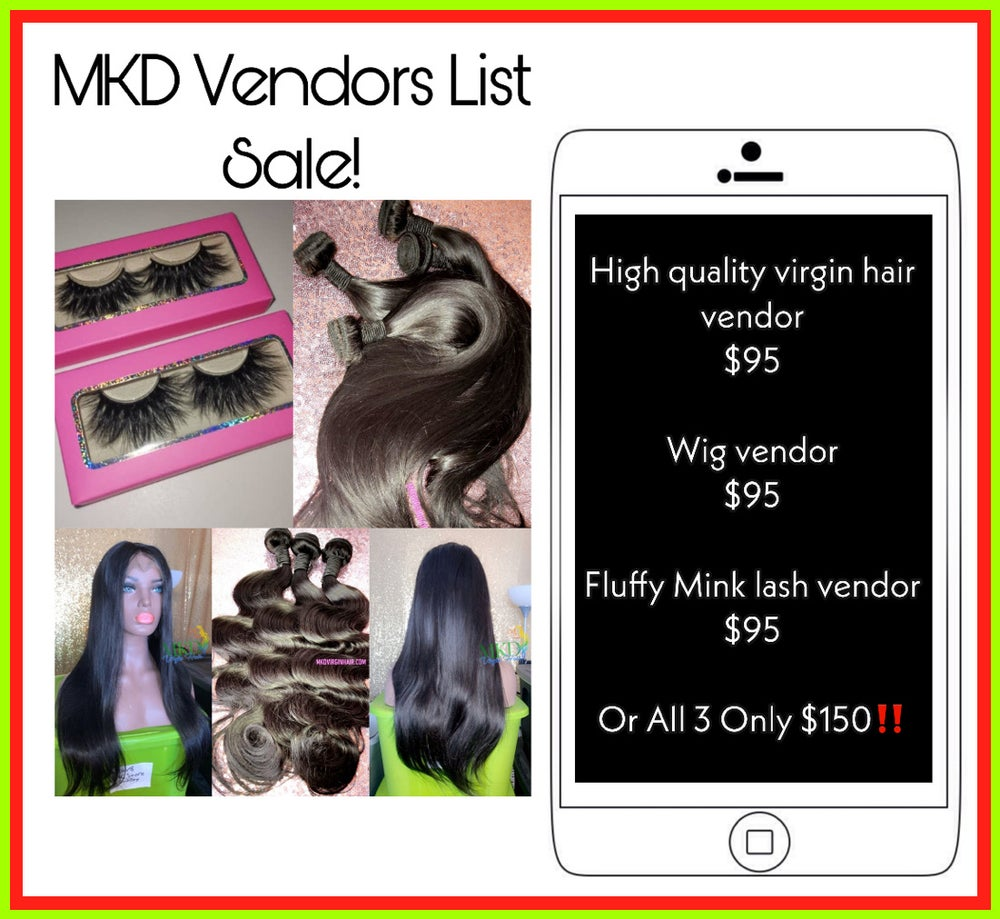 Vendors list SALE