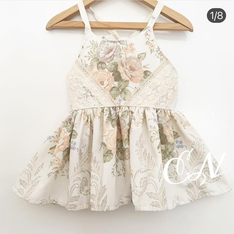 Image of Cream vintage lace sets or dress