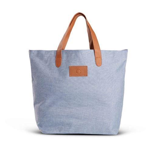 Heathered Tote Bag-Blue