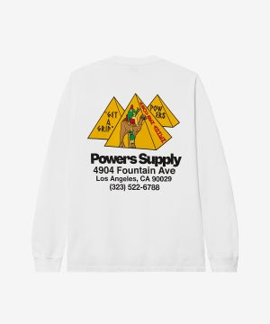 Image of POWERS_GET A GRIP SHOP LONG SLEEVE :::WHITE:::