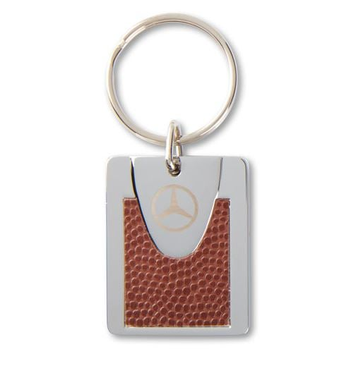 Leather Front Metal Key Chain