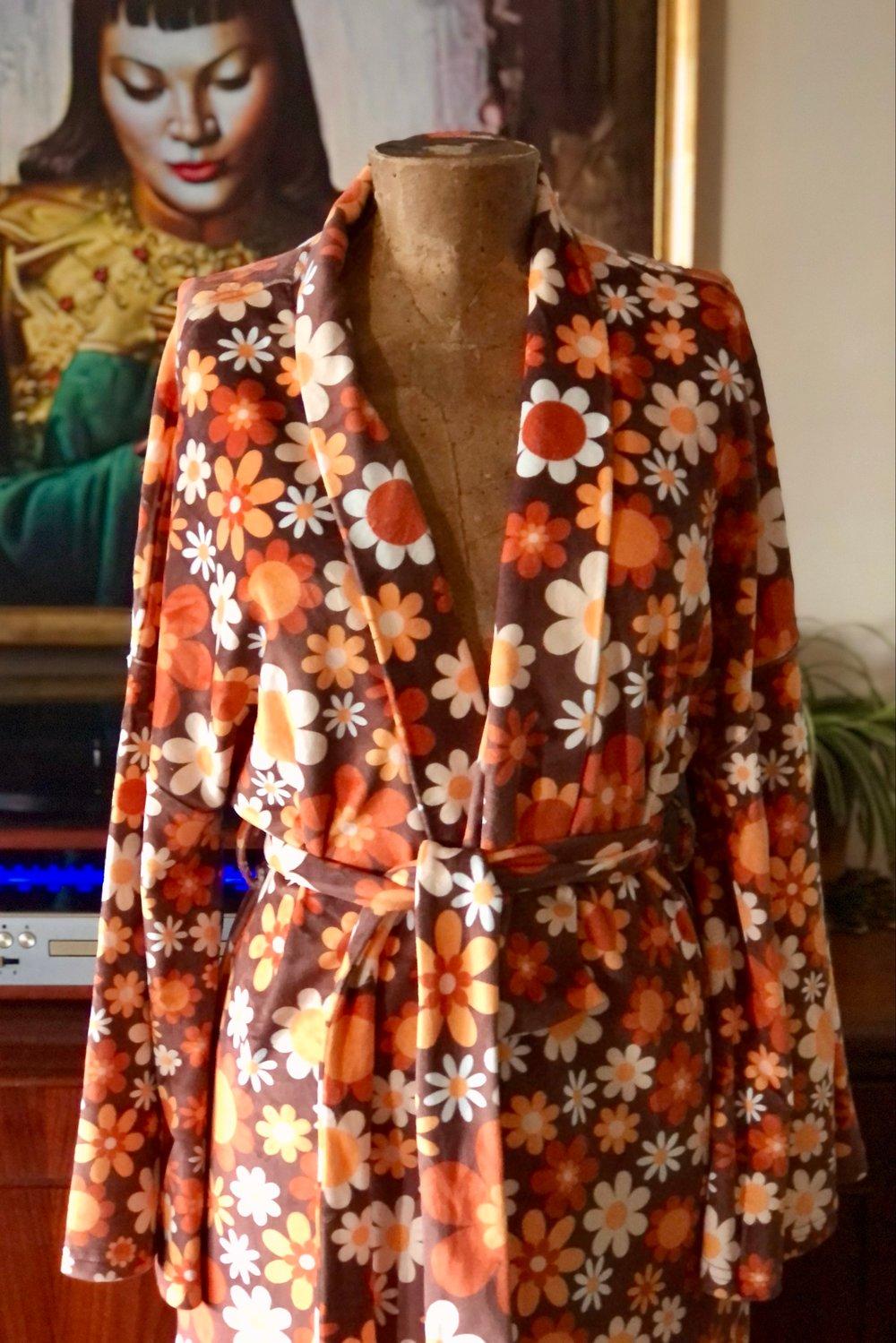 Velvet dreams robe in Sunny side up brown