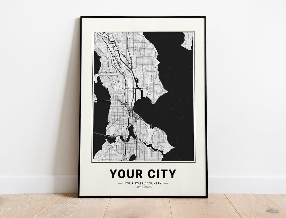 Custom City Map Aesthetic Poster