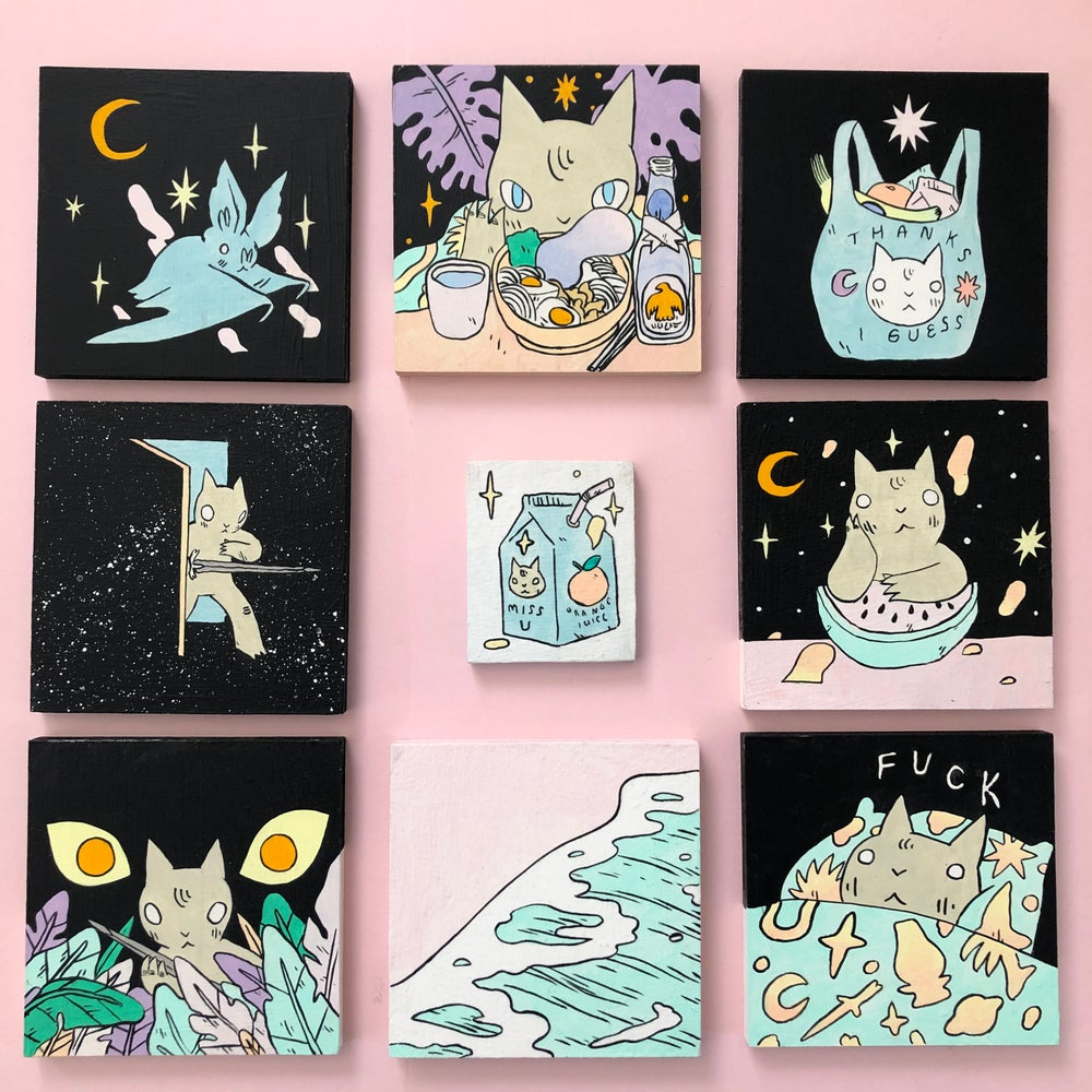 Image of 5x5 Paintings Lot