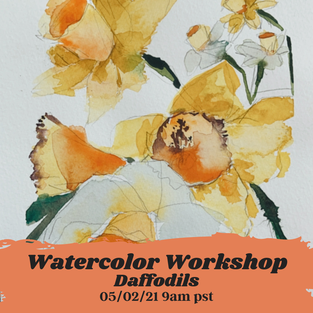 Image of Learn How to Paint Watercolor Daffodils