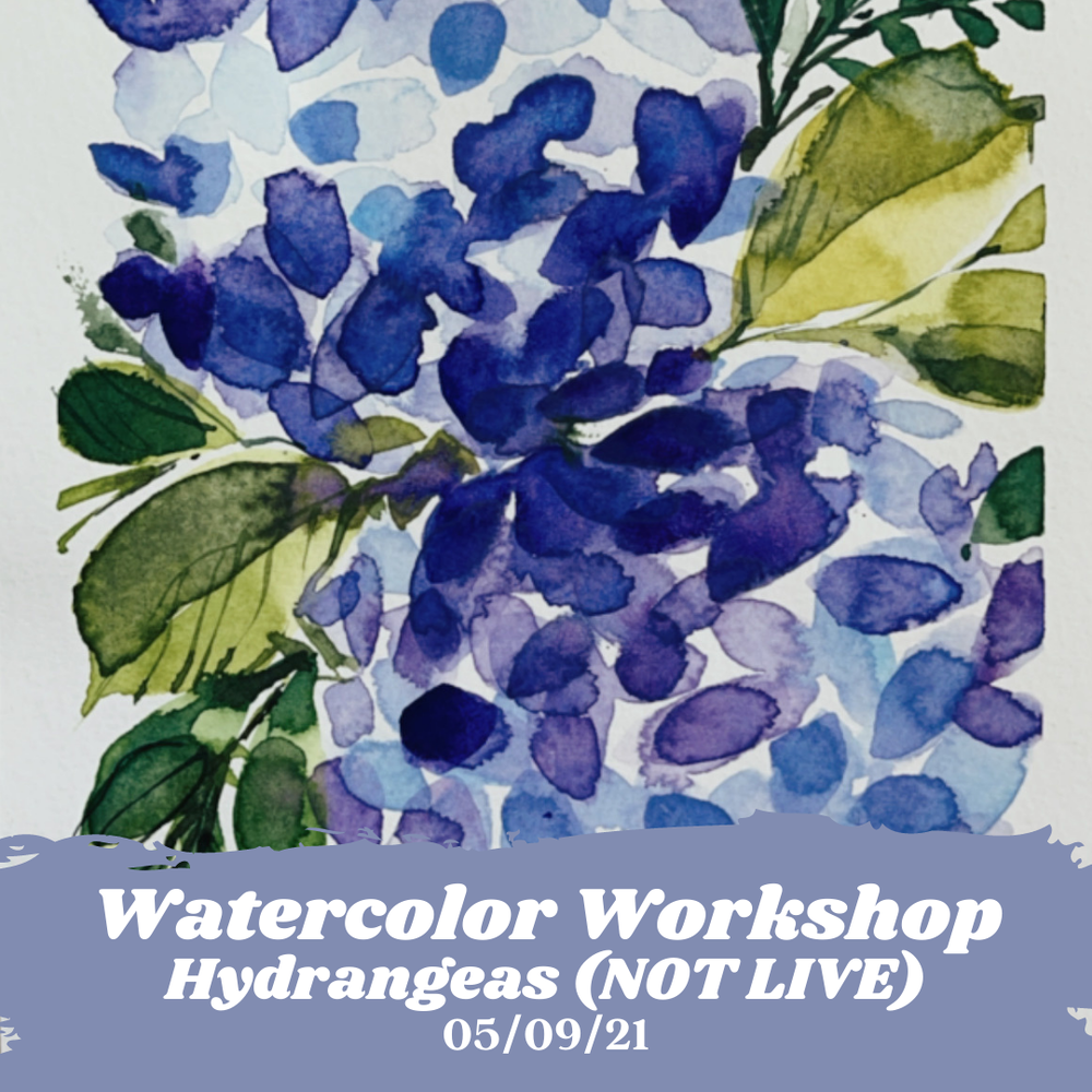 Image of Learn How to Paint Watercolor Hydrangeas