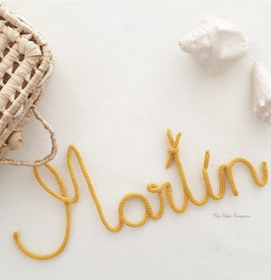Image of Nombre Tejido & Frases / Knitted Names  & Sentences