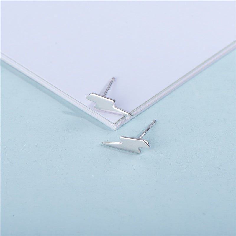 Flash Lightning Bolt Stud Earrings (925 Silver)