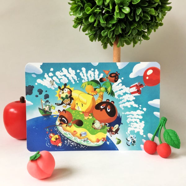Image of Animal Crossing postcard