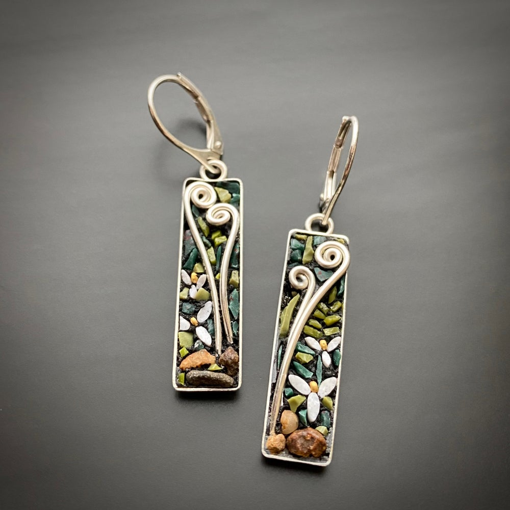 Image of Trillium and Fiddlehead Earrings