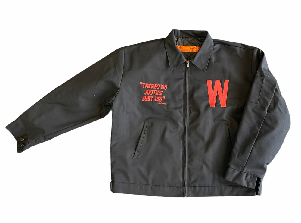 "Image of ""No Justice"" Workmans Jacket"