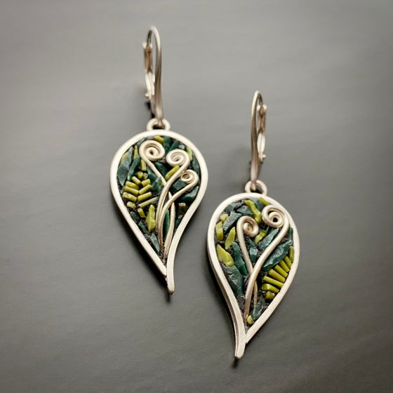 Image of Fiddlehead Leaf Earrings