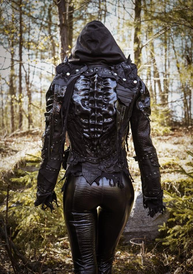 Image of Toxic Vision black Alien sculpted jacket