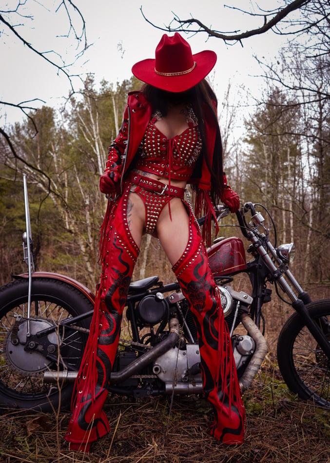 Image of Toxic Vision El Diablo leather chaps