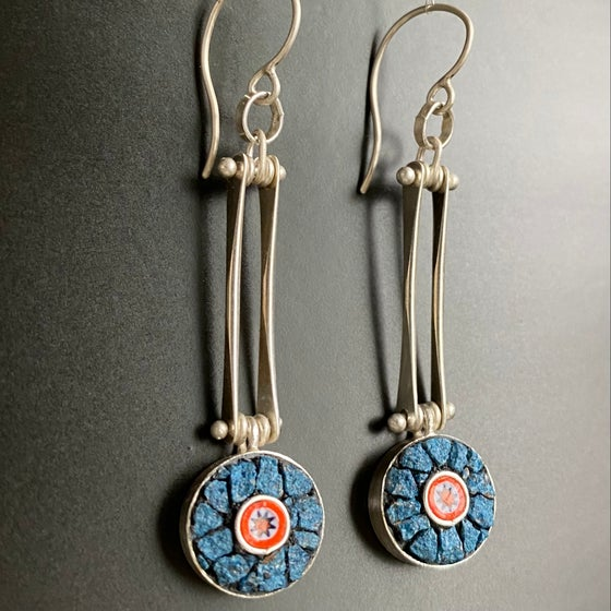 Image of Blue Bright Spot Earrings