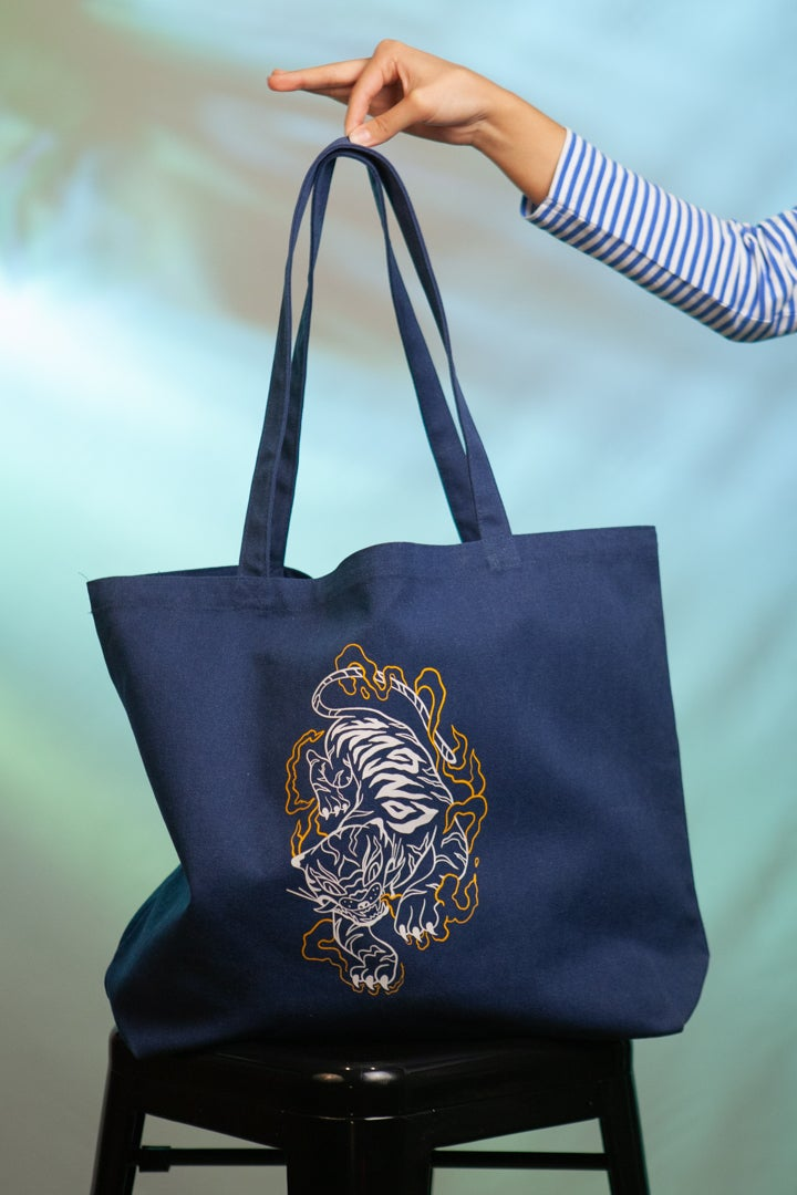 Image of Navy Long Live Tiger Tote