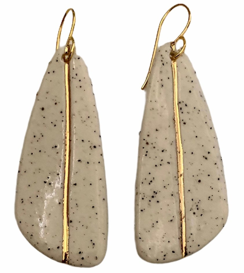 Image of Speckled gold inlay drop