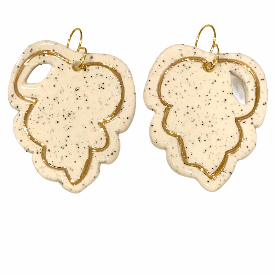 Image of Gold inlay monstera (L 5cm)